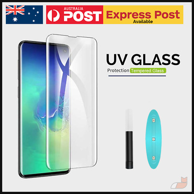 UV Light Liquid Glue Tempered Glass for Find X Note Galaxy S10 Mate 20 P30 Pro