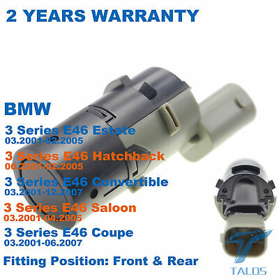 1 X For Bmw 3-Series E46 After 03.2001 Pdc Parking Sensor Fit Front Or Rear New