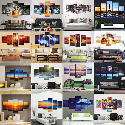 5Pc/Set Modern Picture Abstract Canvas Art Oil Painting Home Wall Decor Unframed