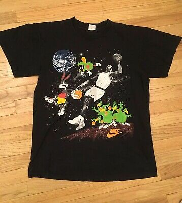 df07887cbf1 Vintage Nike Jordan Looney Tunes Shirt Medium Lrg Hare Porky Space Jam
