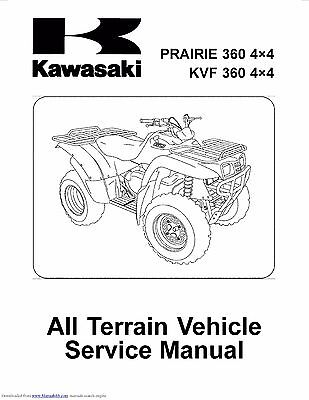 KAWASAKI SERVICE MANUAL 2005, 2006 & 2007 BRUTE FORCE 750 4 ... on