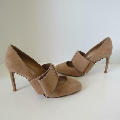 Valentino Beige Suede Mary Jane Bow Pumps/Shoes/Heels Size 39