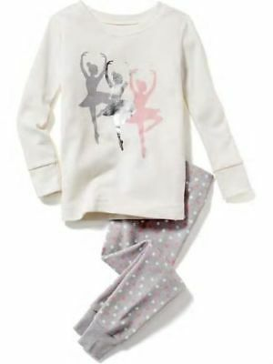 Nwt Girls Old Navy Pajamas Pjs Size 2T 2 Piece Set Dance Ballerina