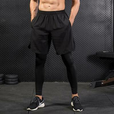Men's Compression Leggings Fitness Gym Running Training Breathable Thermal Pants