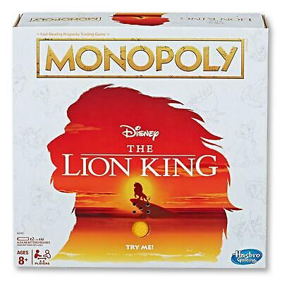 Monopoly Lion King with Music Unit - 4 Players Family Board Games - Ages 8+