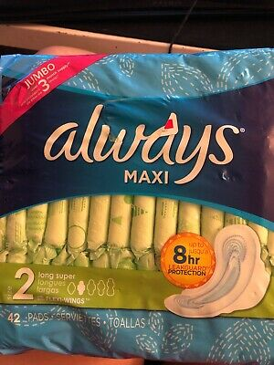 Always Maxi (42 Pads) Size 2 Long Super With Flexi-wings
