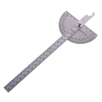 180° Protractor Round Head Rotary Angle Rule Finder Arm Ruler 200mm/20cm
