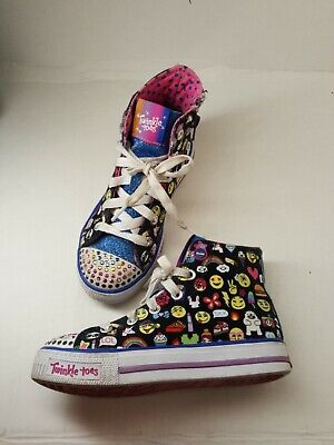 Skechers Twinkle Toes Shuffles Chat Time Girls' Youth Size 13