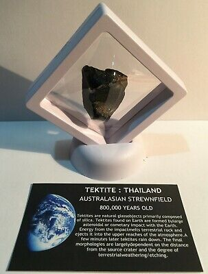 """""""RARE"""" 25.7 Gram TEKTITE Museum Quality with stand and label, asteroid, Comet"""