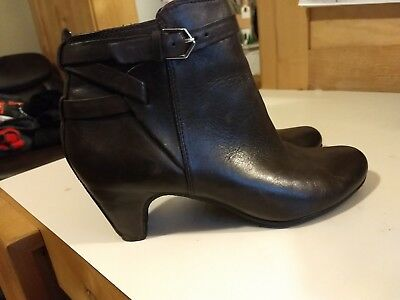 aa2082307e355 SAM EDELMAN LEATHER brown ankle boot womens size US 7.5 Euro  38 ...