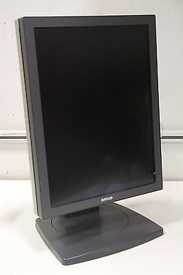 "Barco MDCC 2121 20"" Medical Flat GrayScale LCD Display Screen DVI w/ Stand"