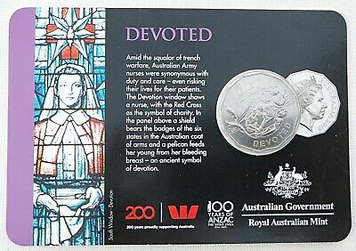 "50 cent ""DEVOTED"" Anzac Spirit Coin Collection 100 year of the ANZAC RAM"