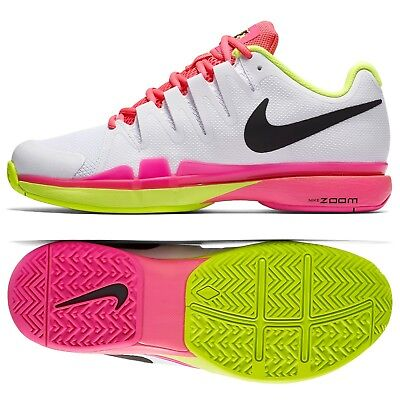 fe608aaf29fc NIKE VAPOR 9.5 Tour Womens Tennis Shoes Size 8 White Black Orange ...