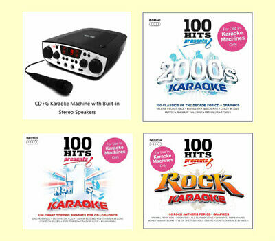 KIDS PORTABLE KARAOKE MACHINE CDG + CD PLAYER NEW WITH 305 SONGS x 1 MICROPHONE