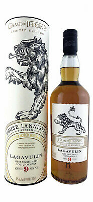 GAME OF THRONES House Lannister Lagavulin 9 Year Single Malt Scotch Whisky 700ml