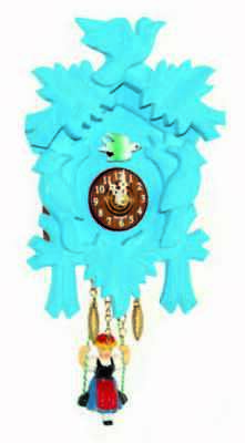 German Black Forest cuckoo clock with Quartz movement different color
