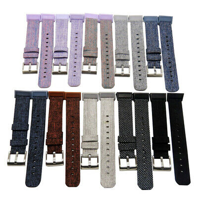 Replacement Cloth Watchband Wrist Band Strap For Fitbit Charge 3 Smart Bracelet