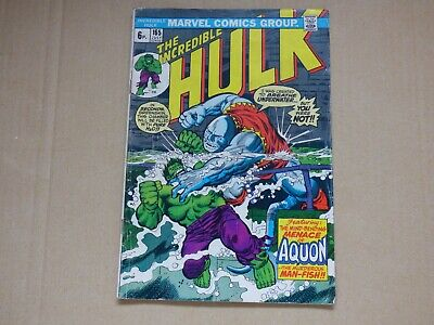 Marvel The Incredible Hulk #165 1973 issue GD
