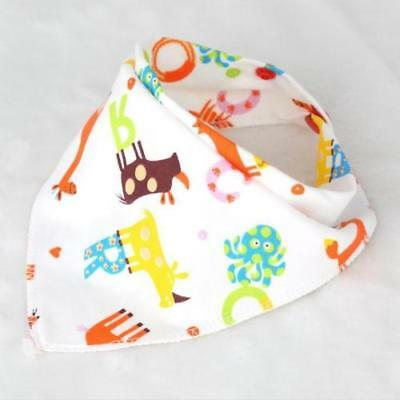 Baby Boy Girl Cotton Bibs Saliva Towel Double Layer Bandana Triangle Head Scarf