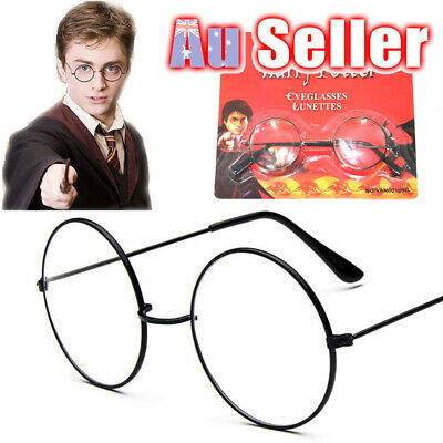 Harry Potter Black Hogwarts Glasses Cosplay Party Round Frame Spectacles Wizard