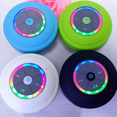LED Bluetooth Wireless Speaker Waterproof Shower Portable For Samsung iPhone LG