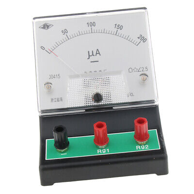 Microampere Ammeter DC Current Meter, 0 - 200 microamp, 2.5 uA resolution.