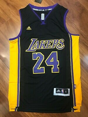 16f37a9ff0c NWT Men s Kobe Bryant  24 Los Angeles Lakers Swingman Jersey Black Size  S-XXL