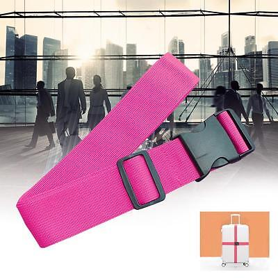 Adjustable Suitcase Luggage Straps Travel Baggage Tie Down Belt Packing Rose CR