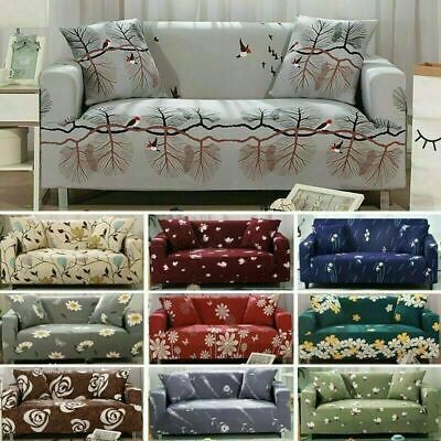 All-inclusive Sofa Cover Elastic Floral Print Couch Covers Slipcovers  Nonslip