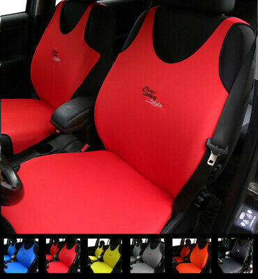 2 Red Car Seat Covers For Peugeot 301 304 305 306 307 308 3008 Cc Sw