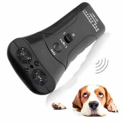 Anti Dog Barking Pet Trainer Ultrasonic Gentle Chaser With LED Light New