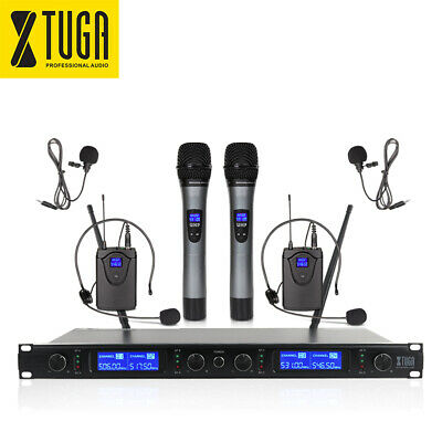 UHF 400Channels SKM4000 4handheld Wireless Microphones System for Stage DJ party