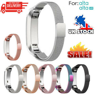 Stainless Steel Replacement Magnetic Milanese Band Strap for Fitbit Alta Alta UK