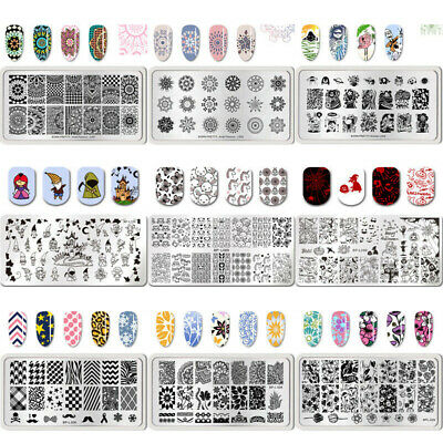 BORN PRETTY Stamping Plates Animal Flower Leaf Nail Art Image Templates
