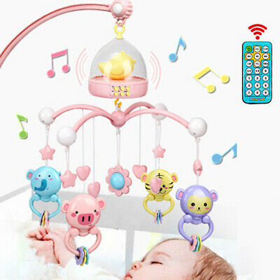 ABS Crib Educational Toy Set Night Lights Baby Bed Bell Mobile Musical Playing