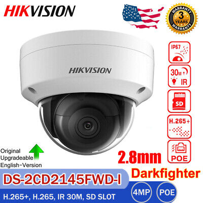 Hikvision 4MP Dome WDR Outdoor IP Security Camera DS-2CD2142WD-I Onvif 4mm IP67