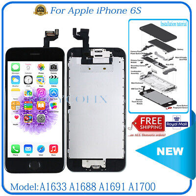 For iPhone 6S LCD Replacement Screen Touch Digitizer Display Black Camera Button
