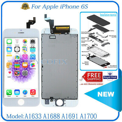 For iPhone 6S LCD Replacement Screen Touch Digitizer Display Assembly White