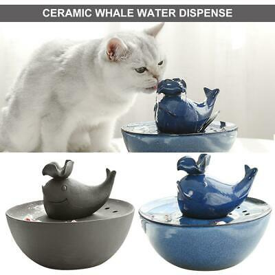 Automatic Electric Pet Water Basin Fountain Cat/Dog Ceramic Drinking Dispenser
