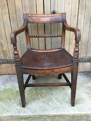 George III Mahogany Library Desk Chair 18th Century Georgian Dining Armchair 2