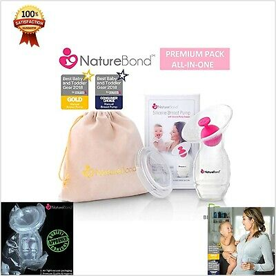 Nature Bond Silicone Breastfeeding Manual Breast Pump Milk Saver Suction New
