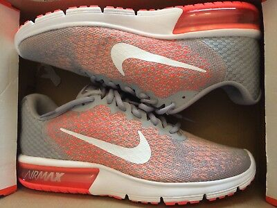 0ad42d66e3 Nike Air Max Sequent 2 Wolf Grey/White-Bright Mango 852465-005 Women's