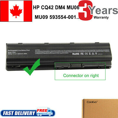 6Cell Notebook Laptop Battery for HP 593554-001 593553-001 MU06 MU09 SPARE