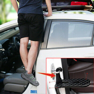 New Folding Car Door Latch Hook Step Mini Foot Pedal Ladder For Pickup SUV Roof