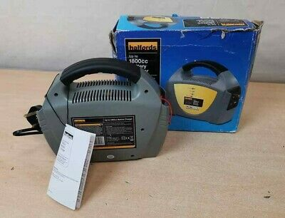 Halfords car battery charger - up to 1800cc - AH 63316