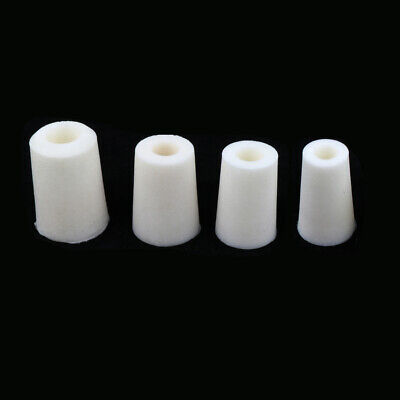 Set of 4 x Glassware Tube Silicone Stopper Plug Wine Bottle Airlock, 20-38mm