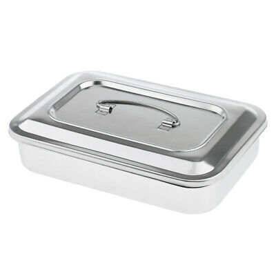 """Surgical Instrument Medical Dental Tools Sterilizing Box Stainless Steel, 9"""""""