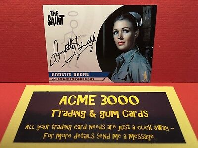 Unstoppable - THE SAINT - ANNETTE ANDRE Autograph Card AA4 as Linda Henderson