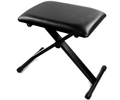 Folding Stool Piano Keyboard Seat Bench Chair Stand Chair 3 Way Adjustable Tn