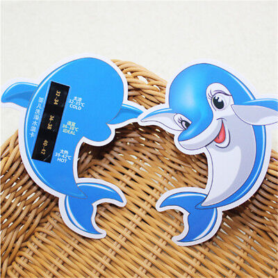 Baby Bathing Water Thermometer Dolphin Hot 3Level Temperature Range Display OQ